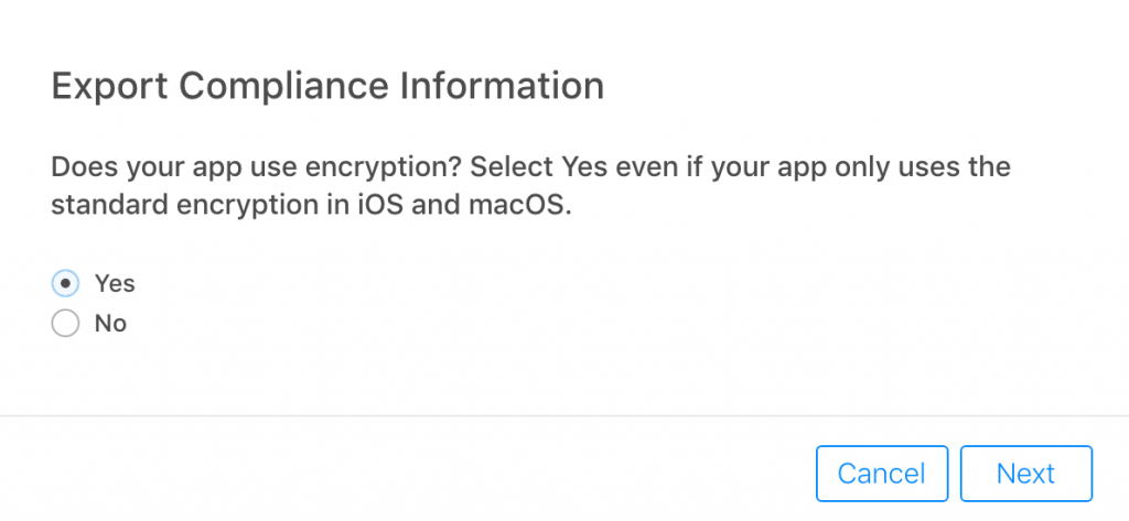 Kitefaster | Encryption Export Compliance for iOS apps